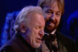 Colm Wilkinson (l) and John Owen-Jones at the Les Misérables 25th Anniversary Concert